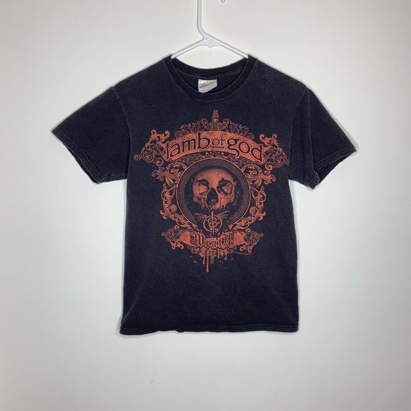 Hanes Other - Mens S Black/Red Lamb of God Wrath Shirt